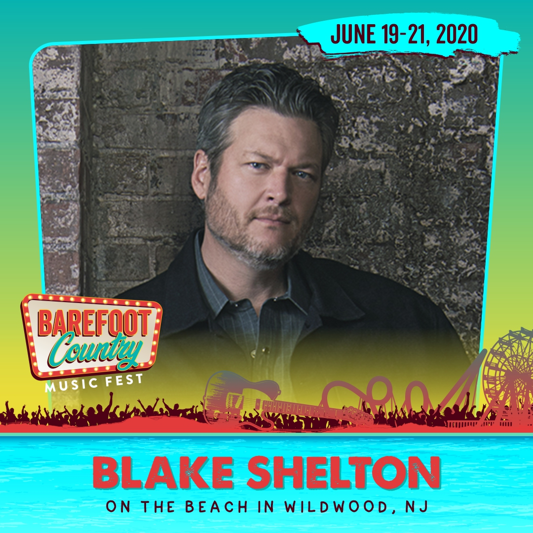 BLAKE SHELTON IS OUR SECOND HEADLINER!