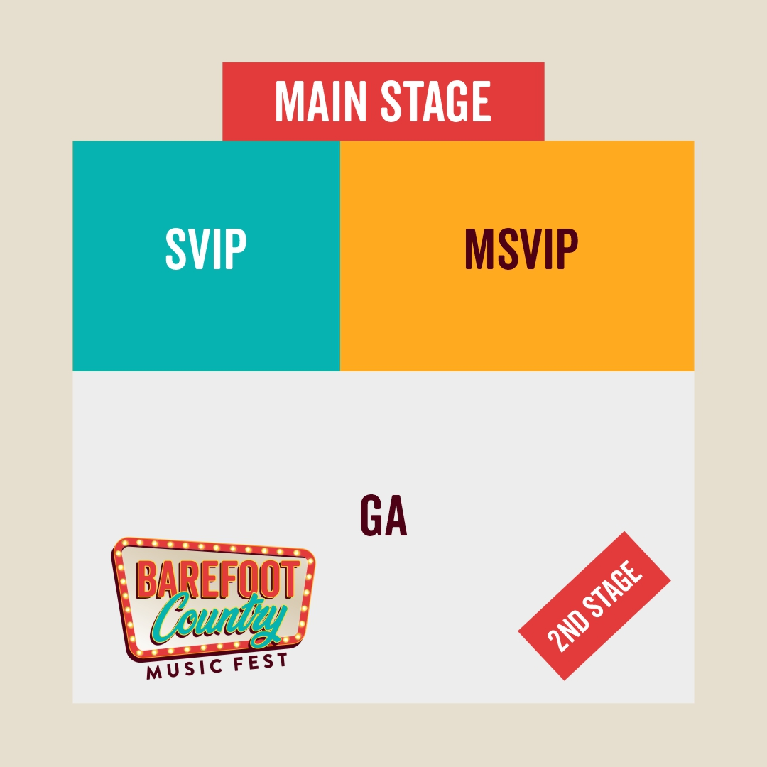 Barefoot Country Music Fest Super-High Detailed Map